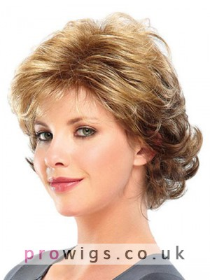 Midlength Wavy Capless Synthetic Wig