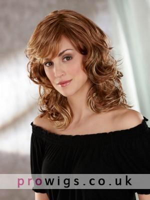 Roller Set Curls Medium Synthetic Wig