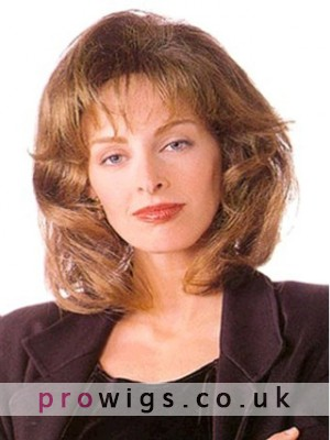 Ancient Medium Wavy Synthetic Lace Front Wig For Woman