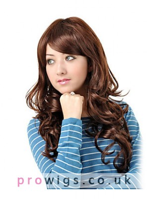 Synthetic Long Wavy Gentlewomanly Hair Wig