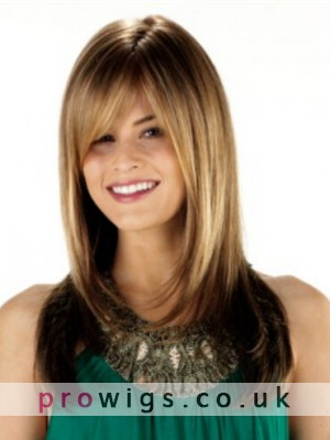 Long Layered Lace Front Straight Synthetic Hair Wig