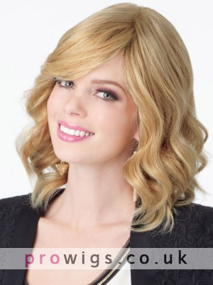 Gorgeous Medium Wavy Synthetic Wig For Women