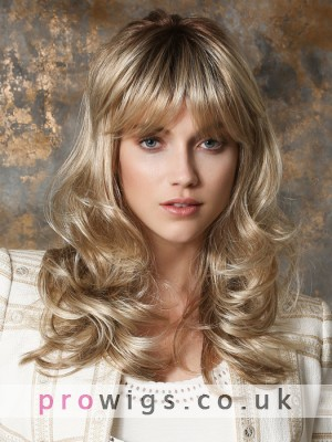 Women's Long Capless Wavy Synthetic Wig