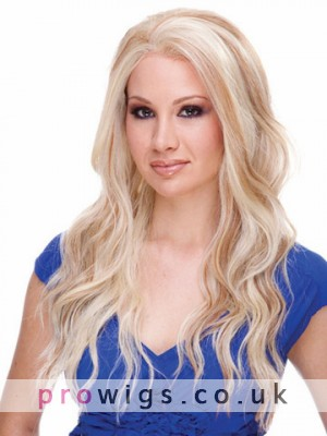 Long Natural Beach Wave Synthetic Lace Front Wig