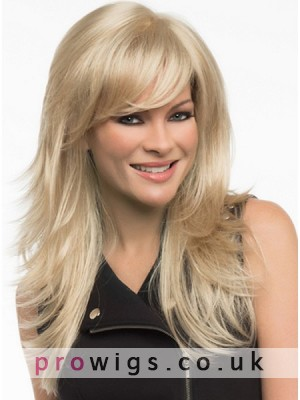 Long Hair Layers With Flicked Tips Style Synthetic Wig