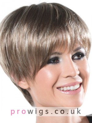 Synthetic Silky Straight Short Capless Wig