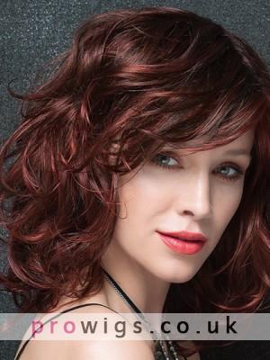 Flirtatious Big Curly Medium Length Synthetic Wig