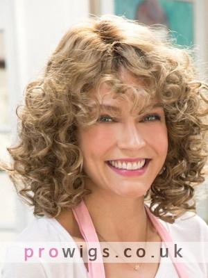 Deep Wave Medium Length Curly Capless Wig
