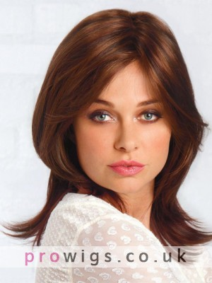 Synthetic Natural Straight Medium Length  Wig