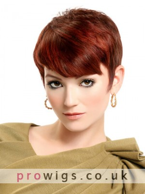 Fashion Short Machine Made Synthetic Wig