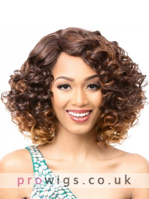 Charming Loose Wave Medium Length Curly Capless Wig