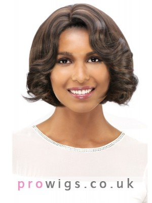 Frizzy Medium Length Curly Synthetic Capless Wig