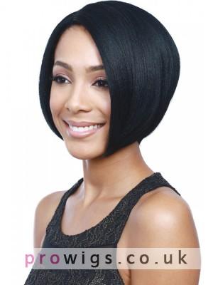 Bob Style Black Synthetic Capless Wig