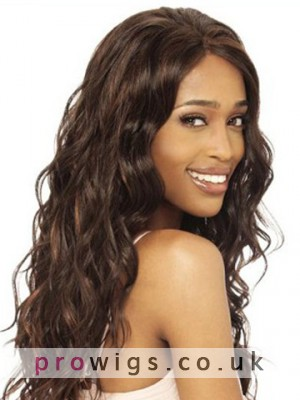 "20"" Body Wavy Remy Human Hair Lace Front Wig"