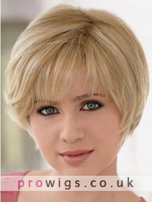 Human Hair Full Lace Short Lightweight Wig