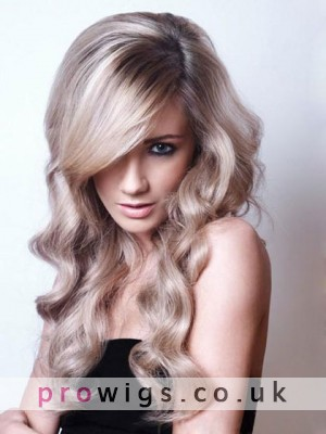 Elegant Long Wavy Synthetic Front Lace Wig