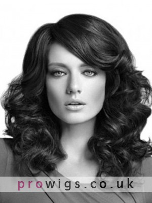 High Fashion Long Synthetic Spiral Wavy Lace Wig