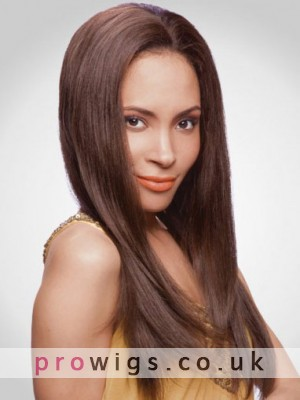 Long Centre Parting 100% Remy Human Hair Lace Front Wig