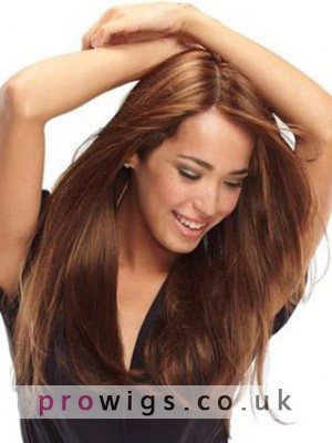 Lovly Long Straight Remy Human Hair Full Lace Wig