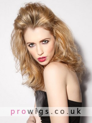 Medium Length Loose Remy Human Hair Full Lace Wig