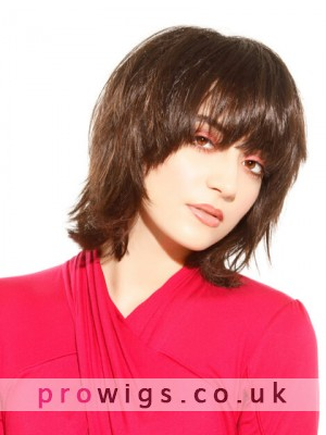 Medium Length Natural Straight Lace Front Wig