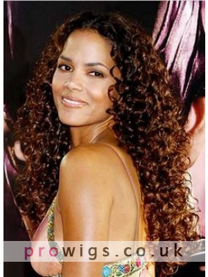 """22"""" Halle Berry Remy Hair Celebrity Wig"""