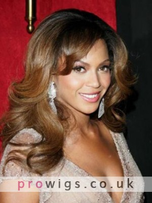 "16""  Beyonce Full Lace Wavy Wigs"