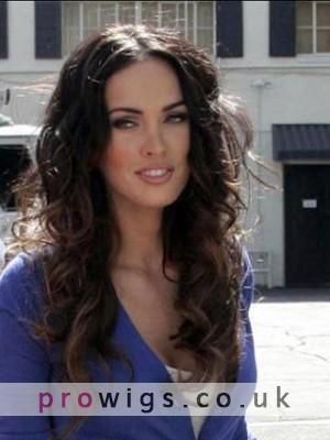 "20"" India Remy Hair Wavy Celebrity Wig"