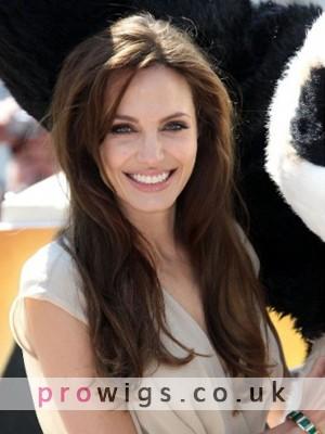 "18"" Angelina 100% Human Hair Celebrity Wig"