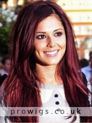 Cheryl Cole Style Plum Red Wig