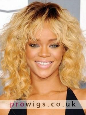 Rihanna - Ringlet Wavy & Soft Fringe Wig