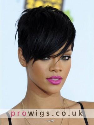 Rihanna Boystyle Fashion Short Synthetic Wig