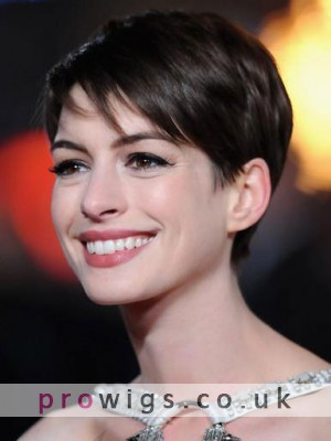 Anne Hathaway Pixie Human Hair Lace Front Wig