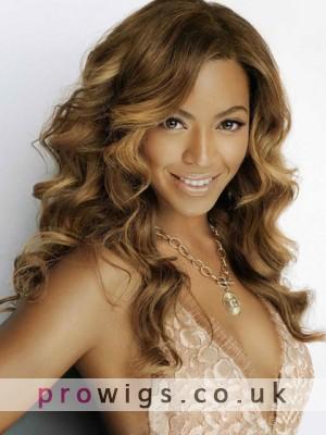 Beyonce Human Hair Long Lace Front Wavy Wig