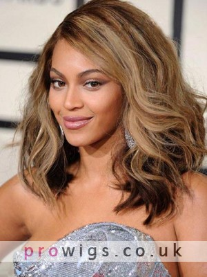Beyonce Knowles Fabulous Hairstyle Wavy Lace Wig