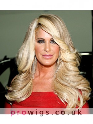 New Fashion Wave Stylish Kim Zolciak Capless Wig