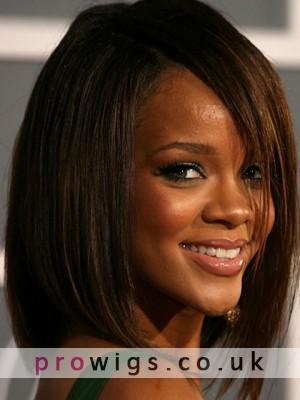 Rihanna's Medium Capless 100% Remy Human Hair Wig