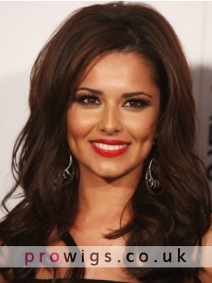 Cheryl Cole Long Wavy Remy Human Hair Wig