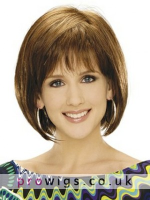 Beautiful Collar Length Synthetic Bob Wig