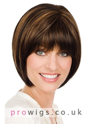 Classic Short Bob Style Lace Front Wig