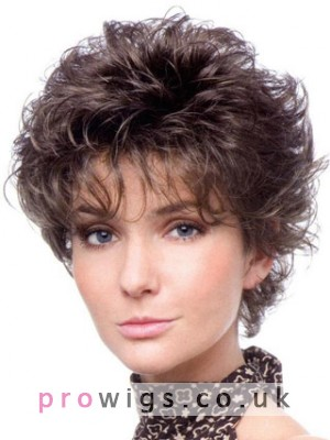 Short Curly Classic Style Synthetic Capless Wig