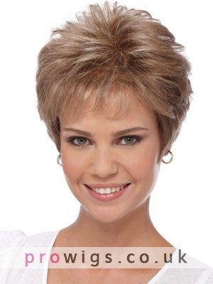 Pixie Style Soft Curly Synthetic Capless Wig