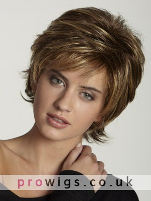 Light Weight Stretchable Cap Short Straight Wig
