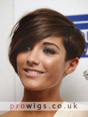Soft Short Straight Asymmetric Wig