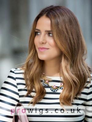 Human Hair Wavy Capless Style In Medium-length