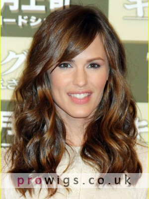 Shoulder Length Synthetic Capless Wavy Wigs