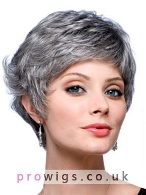 Graduated Back Grey Wig