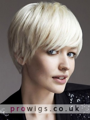 Synthetic Capless Straight Wigs With Fringe