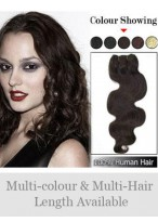 Wavy Indian Remy Hair Weft Extensions
