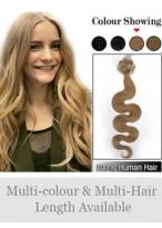 """20"""" 100% Human Hair Wavy Micro Loop Hair Extensions"""